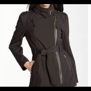Michael Kors Asymmetrical Belted Trench